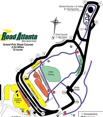 Road Atlanta trackmap
